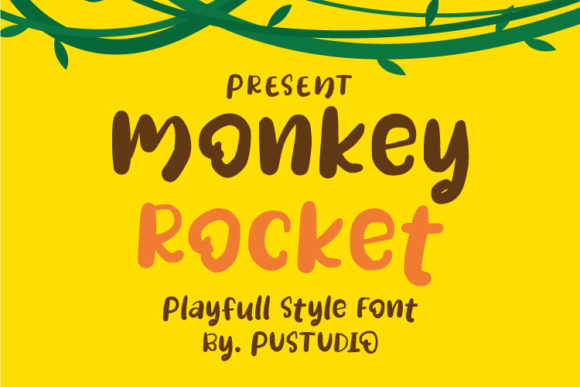 Print on Demand: Monkey Rocket Display Font By pustudio