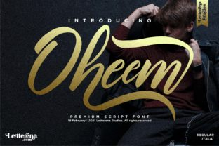 Print on Demand: Oheem Script & Handwritten Font By letterenastudios
