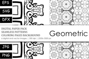 Print on Demand: Pattern Design Coloring Book Background Graphic Coloring Pages & Books Adults By stanosh