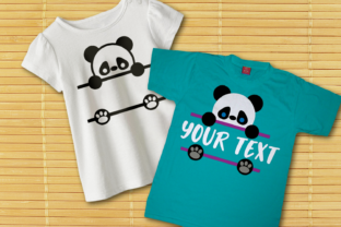 Peeking Panda Split SVG Graphic Crafts By DesignedByGeeks