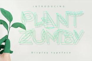 Print on Demand: Plant Zumby Decorative Font By Display Letter