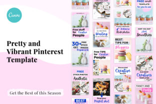 Print on Demand: Pretty and Vibrant Pinterest Template Graphic Presentation Templates By SnapyBiz