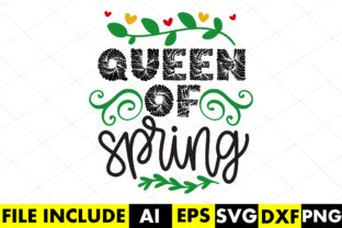 Queen of Spring Graphic Crafts By Crafthill260