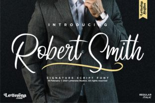 Print on Demand: Robert Smith Script & Handwritten Font By letterenastudios