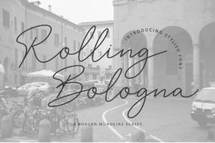 Print on Demand: Rolling Bologna Script & Handwritten Font By insanurbahagia