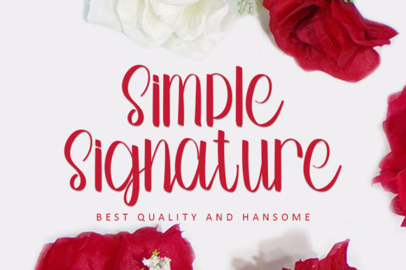 Print on Demand: Simple Signature Script & Handwritten Font By Inermedia STUDIO