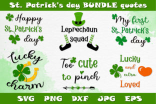 Print on Demand: St. Patrick's Bundle SVG PNG DXF Quotes Graphic Crafts By Citrum Nobile