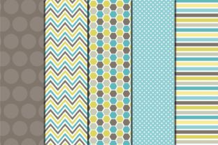 TURQUOISE and GREEN PATTERN Graphic Patterns By TereVela Design