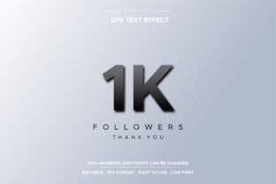 Text Effect 1K Followers Graphic Layer Styles By hamdhan231196