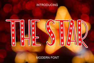 Print on Demand: The Star Display Font By ABBAsalam