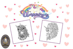 Unicorn Coloring Book for Adults - KDP Graphic Coloring Pages & Books Adults By KDP-WARRIOR
