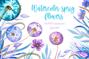 Watercolor Spring Flowers Clipart Graphic Illustrations By Alenamilolika