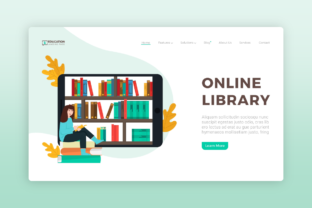 Website Illustration - Education Library Graphic Illustrations By Uppoint Design