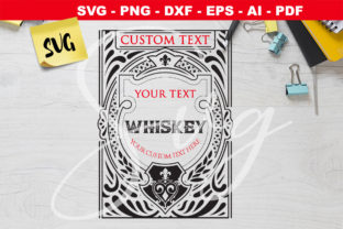 Print on Demand: Whiskey Customizable Label SVG Graphic Crafts By Novart