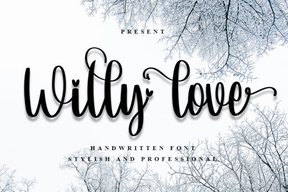 Print on Demand: Willy Love Script & Handwritten Font By K_IN Studio