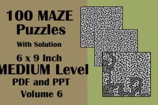 100 Maze Puzzle Medium 6x9 PDF PPTX V 6 Graphic KDP Interiors By Seven Elephant