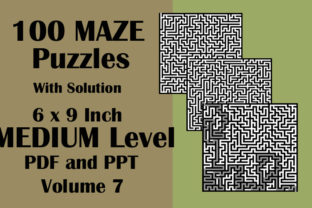 100 Maze Puzzle Medium 6x9 PDF PPTX V 7 Graphic KDP Interiors By Seven Elephant