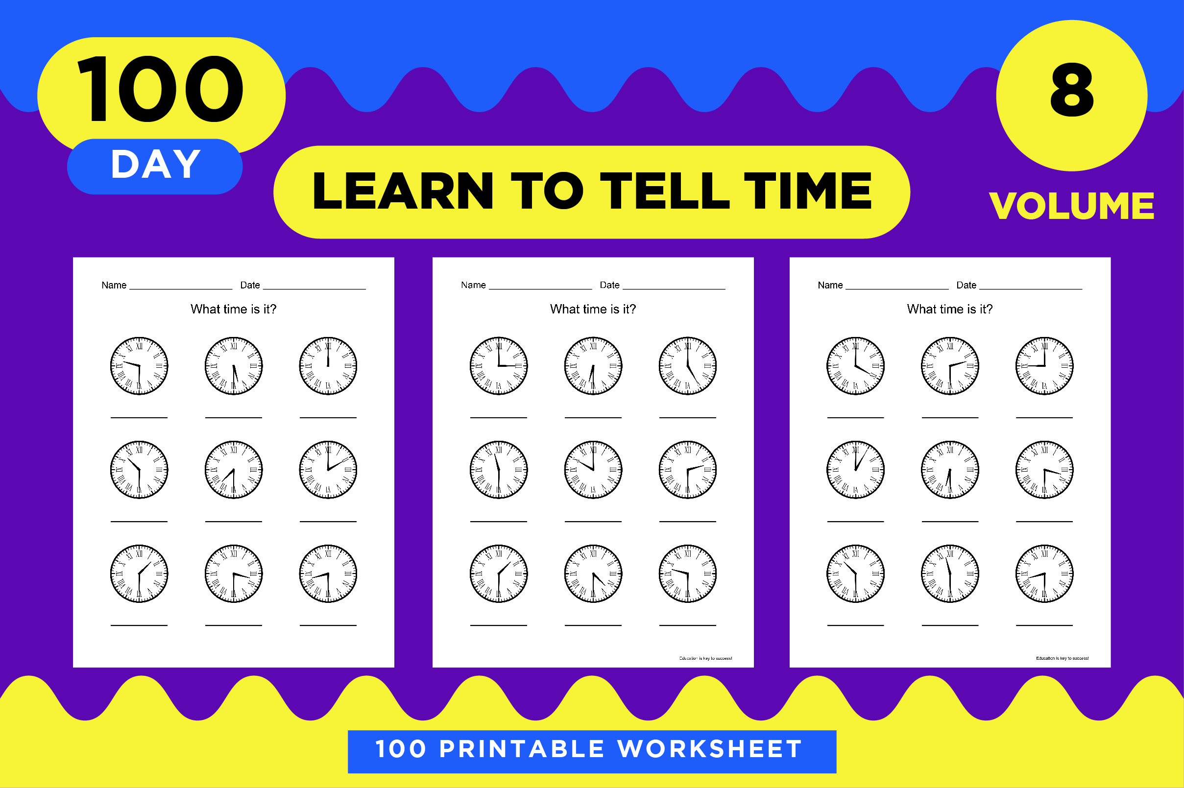10 Printable Time Learning Worksheets