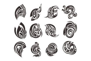 Print on Demand: Abstract Tribal Tattoo Vector Bundle Graphic Crafts By Arief Sapta Adjie