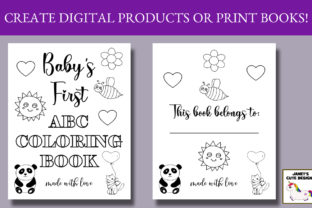 Print on Demand: Baby Alphabet Coloring Book Graphic Coloring Pages & Books Kids By Janet's Art Corner 2