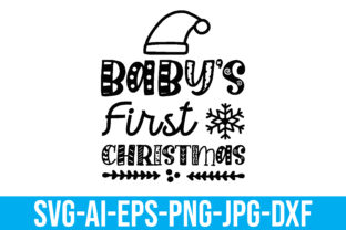 Baby's First Christmas Graphic Crafts By Printable Store