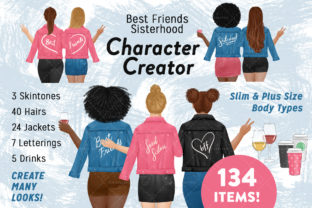 Best Friend Character Creator Graphic Illustrations By SincerelyNix