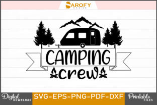 Camping Crew Design Printable Svg Png Graphic Print Templates By Sarofydesign