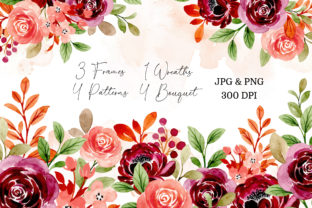Print on Demand: Digital Clipart Floral Watercolor Part24 Graphic Illustrations By asrulaqroni