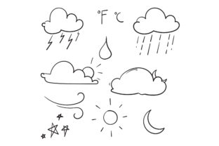 Print on Demand: Doodle Weather Graphic Illustrations By GwensGraphicstudio