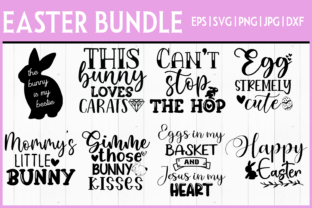Print on Demand: Easter Bundle SVG- 8 DESIGNS! Graphic Crafts By inlovewithkats