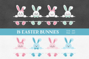 Easter Bunny Split Monogram Svg Eps Png Graphic Crafts By peachycottoncandy