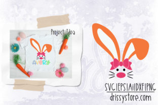 Easter Bunny with Bow Graphic Crafts By DrissyStore
