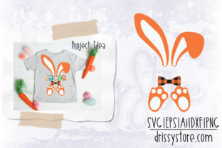 Easter Bunny with Bow Tie Graphic Illustrations By DrissyStore