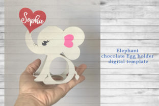 Elephant Egg Holder Template Graphic 3D SVG By PocketFulOfPrintouts