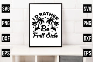 I'd Rather Be Frill Side Graphic Crafts By Crafthill260