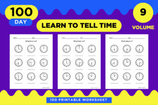 Print on Demand: KDP Preschool Activity What Time is It? Graphic Teaching Materials By Riduwan Molla