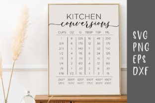 Kitchen Conversions Gráfico Crafts Por designtwits