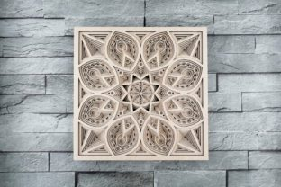 Print on Demand: Layered Mandala, Cut File Mandala Graphic 3D SVG By vectormarket