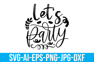 Let's Party Graphic Crafts By Printable Store