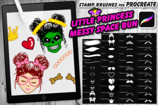 Print on Demand: LittlePrincess Space Bun Procreate Brush Graphic Brushes By V-Design Creator