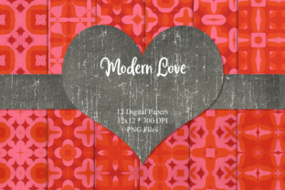 Print on Demand: Modern Love Digital Papers Graphic Patterns By Whiskey Black Designs