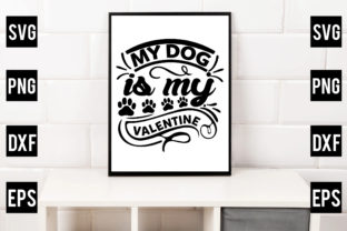 My Dog is My Valentine Gráfico Crafts Por Crafthill260