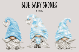 Print on Demand: Pale Blue Baby Shower Gnomes Graphic Illustrations By Celebrately Graphics