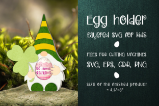 Print on Demand: Patrick's Gnome - Chocolate Egg Holder Graphic 3D SVG By Olga Belova