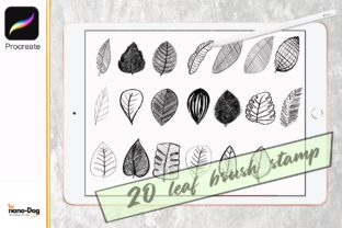 Procreate Brush Stamp Set 20 Leaf Graphic Brushes By NanoDog-shop