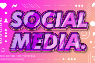 SOCIAL MEDIA TEXT EFFECTS STYLE Graphic Layer Styles By Neyansterdam17