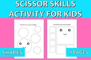 Print on Demand: Scissor Skills Activity Pages for Kids Graphic KDP Interiors By Mah Moud
