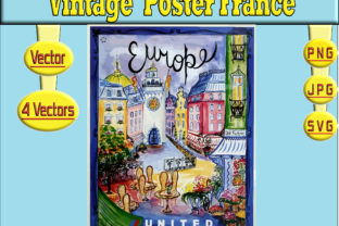Print on Demand: VINTAGE POSTER FRANCE VECTOR Graphic Illustrations By kdp Edition