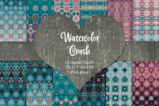 Print on Demand: Watercolor Crush Digital Paper Graphic Patterns By Whiskey Black Designs