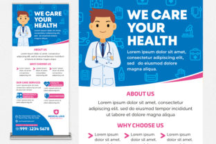 We Care Your Health Roll Up Banner Graphic Print Templates By medzcreative